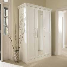 simple hallway with bifold mirrored closet doors white wooden