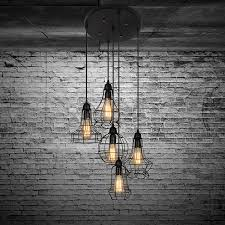 industrial lighting chandelier. electro_bprustic barn metal chandelier max 200w with 5 light black finish bulb included amazoncom industrial lighting i