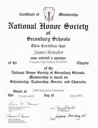 awards and certificates james bowden s blog 2004 04 29 national honor society