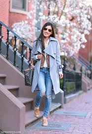 gray trench jacket soludos leather espadrilles casual outfit