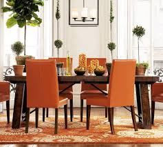 Outstanding Orange Dining Room Chairs Rustic Modern Dining Room - Rustic modern dining room ideas
