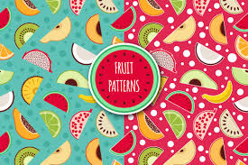 Fruit Pattern Best Patterns Fruits Graphic Patterns Creative Market