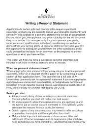 Example Of Personal Statement For Resume Resume Templates Personal Statement RESUME 21