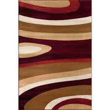abstract contemporary modern red 9 ft x 12 ft area rug 110 red 9x12 the home depot