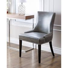 leather restaurant chairs. Abbyson Living Newport Grey Leather Nailhead Trim Dining Chair With Chairs Nailheads Designs 4 Restaurant