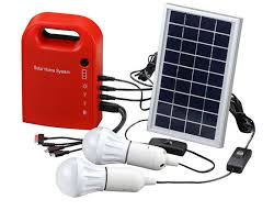 Portable Solar Power Home System Energy Kit Include 4 In 1 USB Solar Powered Lighting Systems
