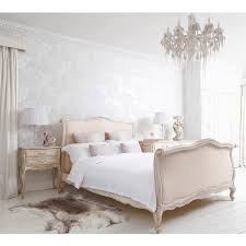 white wood wardrobe armoire shabby chic bedroom. Delphine French Upholstered Bed White Wood Wardrobe Armoire Shabby Chic Bedroom Z
