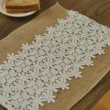 vintage jute burlap dinner table mat pad white fl lace insulation placemat