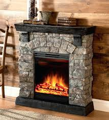 electric stone fireplace heater tv stand with mantel image