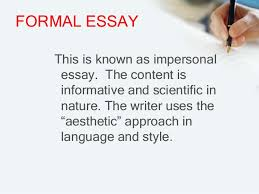 an introduction to essay its parts and kinds formal