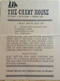 Chart House Recipes Chart House Mud Pie The Waiter Gave Us This Recipe Card