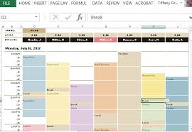 Excel Schedule Template Hourly Printable Schedule Template