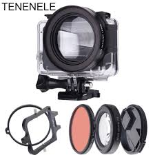 Hero7 Action Camera Filter <b>58mm</b> Red Filter With 16X Macro Lens ...