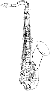 Coloriage Saxophone A Imprimer L