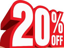 20 percent discount ile ilgili görsel sonucu