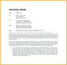 Office Memo Memorandum Template Writing Example Interoffice Format