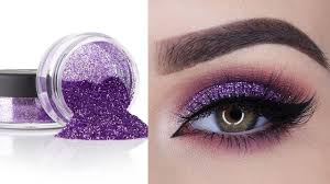 glitter eyeshadow for party perfect eye makeup tutorial for beginners step by step