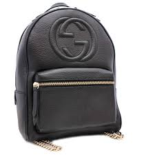 details about gucci 431570 chain soho rucksack backpack embossed leather women