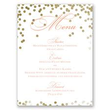 Polka Dot Invitations Gold Polka Dots Menu Card Invitations By Dawn