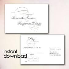 Diy Wedding Rsvp Postcard Template Instant Download