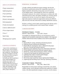 Program Manager Resume Samples Amazing 48 Free Sample Project Manager Resumes Best Resumes 48