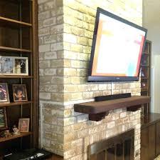 mount tv on brick fireplace hanging flat screen on brick fireplace install wall mount best hide
