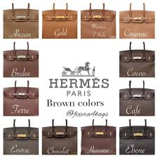 Hermes Brown Color Chart The Most Common Hermes Colors How It Looks Heychenny