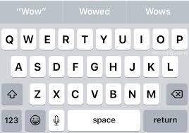 uppercase keyboard keys on iphone