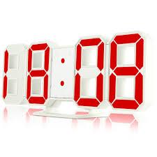 digital office wall clocks digital. 3D LED Digital Wall Clocks 24 / 12 Hours Display 3 Brightness Levels Dimmable Nightlight Snooze Function Office