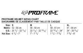 Fox Mountain Bike Helmet Sizing Chart