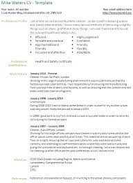 Cv Cleaner House Cleaner Resume Sample Penza Poisk