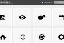 シンプルなフリーアイコン素材を配布するサイトendless Icons