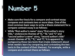austin english the introduction iuml sect the introduction is the number 5 iuml130sect make sure the thesis for a compare and contrast essay compares and contrasts
