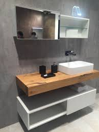 solid wood countertop for bathroom and storage shelf under