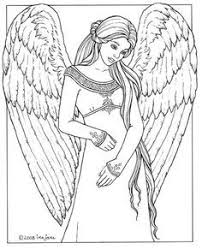 Small Picture Beautiful Angel Coloring Pages Angels Stained Glass Coloring