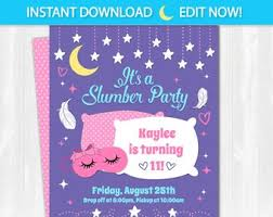 How To Make A Sleepover Invitation Slumber Party Invite Etsy
