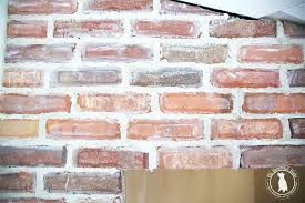 can you paint mortar on brick fireplace messy cement mix for fire bricks rub