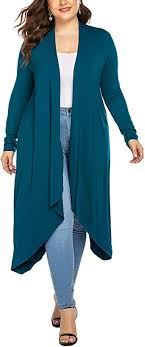 IN'VOLAND Women's <b>Plus Size</b> Cardigan <b>Long Sleeve</b> Open Front ...