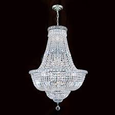 empire 22 light chrome finish with clear crystals chandelier
