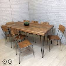 vine industrial table with hairpin legs a superb vine industrial table designed and hand crafted to order by us at wooden groove this table