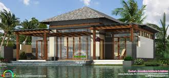 luxury small home plan 1303 sq ft kerala home design and