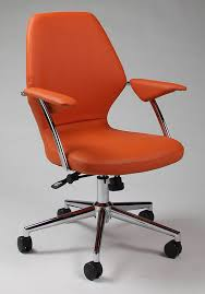 orange and black office chair
