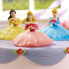 Amazoncom Deco Pac Disney Princess Light Up Cake Toppers Toys