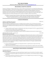 Resume Logistician Resume With Maintained Financial Support