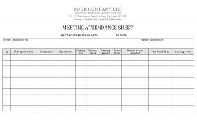 Meeting Attendance Sheet Template 38 Free Printable Attendance Sheet Templates