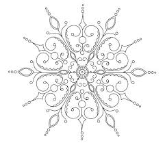 Snowflakes Coloring Page Coloring Page Snowflake Easy Snowflake