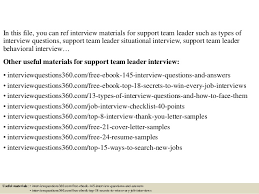 interview questions team leader top 10 support team leader interview questions and answers