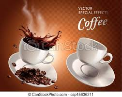 two coffee cups with coffee. Interesting Coffee Two Coffee Cups  Csp45636211 With Two Coffee Cups
