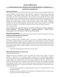 awesome collection of sample resume logistics coordinator in form