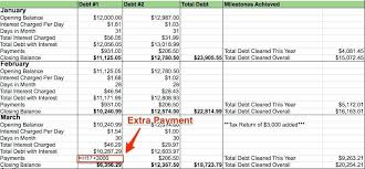 Credit Card Payoff Worksheet Debit Excel Template Loan Calculator